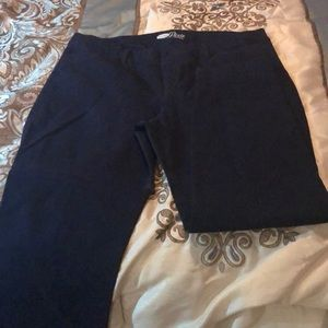 Old Navy size 14 Pixie ankle pants in Navy